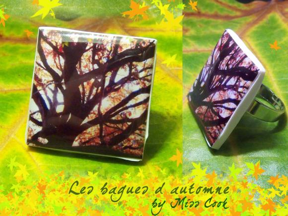 bague arbre automne, bague feuille automne, bijoux feuille automne