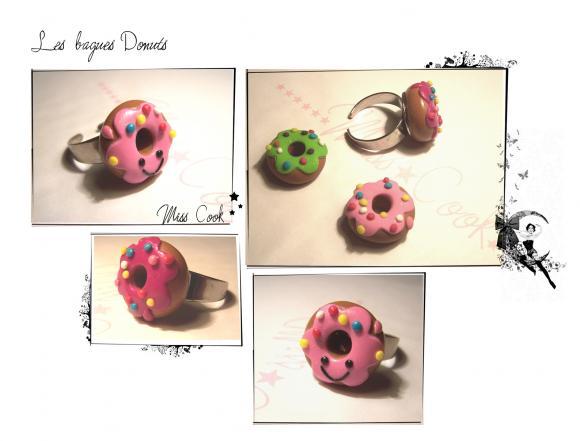 bague donut kawaii