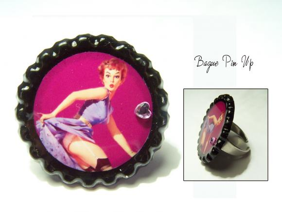 bague pinup, bague pin up, pin up, bague chic